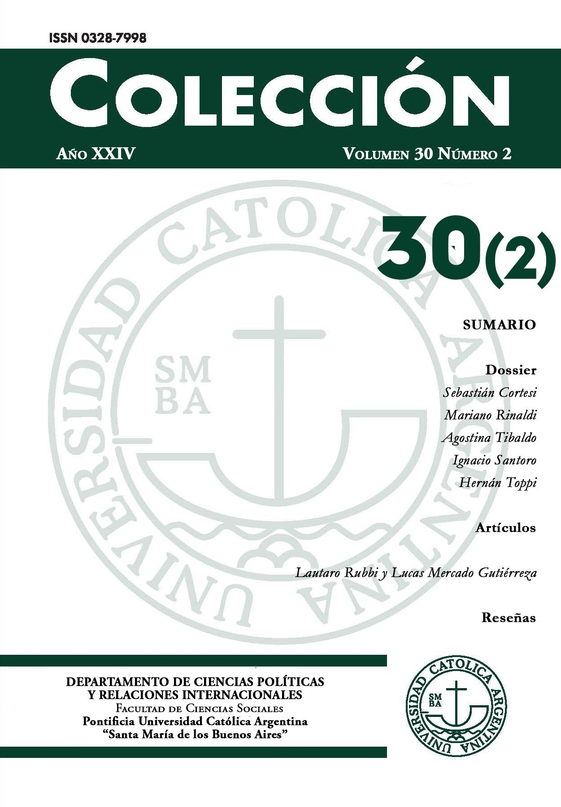 Revista del Departamento de Ciencias Políticas y Relaciones Internacionales de la Facultad de Ciencias Sociales. Pontificia Universidad Católica Argentina